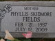 Profile photo:  Phyllis <I>Skidmore</I> Fields