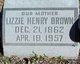 Lizzie <I>Henry</I> Brown