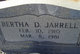 "Profile photo:  Bertha ""Dewberry"" Jarrell"