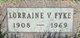 Lorraine Velma <I>Weikle</I> Fyke