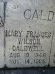Mary Frances <I>Wilson</I> Caldwell