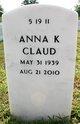 Profile photo:  Anna <I>Keesling</I> Claud