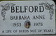 Profile photo:  Barbara Anne Belford