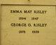 Emma May <I>Blodgett</I> Risley