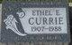 Ethel E. Currie