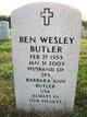 Profile photo:  Ben Wesley Butler