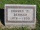 Profile photo:  Edmund C. Benham