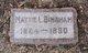 "Martha Ann ""Mattie"" <I>Livingston</I> Lykins-Bingham"