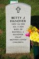 Profile photo:  Betty J <I>Collicutt</I> Hanover