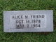 Profile photo:  Alice M Friend