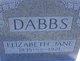 Elizabeth Jane <I>Coe</I> Dabbs