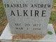 Profile photo:  Franklin Andrew Alkire