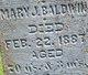 Mary Jane <I>Hill</I> Baldwin