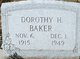 Profile photo:  Dorothy H Baker