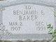 """Profile photo:  Benjamin E. """"Ed"""" Baker"""