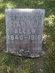 Profile photo:  Mary Jane <I>Stephenson</I> Allen