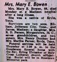 Mary Elizabeth <I>Tilson</I> Bowen