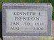 """Kenneth Evans """"Kenny/K.E./Swede"""" Denton"""