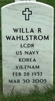 LCDR Willa Ruth Wahlstrom
