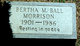 Bertha Mae <I>Ball</I> Morrison