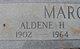 Profile photo:  Aldene H. Marchman