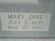 Profile photo:  Mary Jane <I>Mangrum</I> Davidson