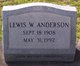 Lewis W Anderson