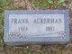 "James Franklin ""Frank"" Ackerman"