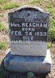 Profile photo: Mrs Mattie <I>Shields</I> Beacham