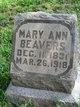 """Mary Ann """"Polly"""" <I>Wynn</I> Beavers"""