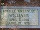 Lucilie <I>Greenlee</I> Williams