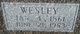 "Profile photo:  John Wesley ""Wesley"" Carrico"