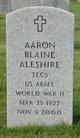 "Profile photo:  Aaron Blaine ""Jack"" Aleshire"