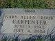 """Profile photo:  Gary Allen """"Boob"""" Carpenter"""
