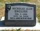 Profile photo:  Nickolas Alan English