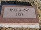 Profile photo:  Baby Adams