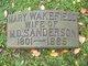 Profile photo:  Mary <I>Wakefield</I> Sanderson