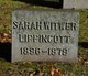 Sarah Gertrude <I>Witwer</I> Lippincott