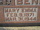 Profile photo:  Mary Emmaline <I>Walker</I> Bennett