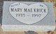 Mary Mae <I>Childers</I> Krick