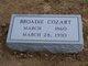 """Broadie C """"Buddie"""" Cozart"""
