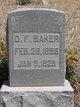 Profile photo:  David Franklin Baker