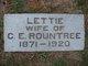 "Electa Ann ""Lettie"" <I>Emery</I> Rountree"