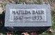 Matilda Baer
