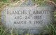Profile photo:  Blanche Eva <I>Thompson</I> Abbott
