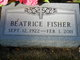 "Profile photo:  Beatrice ""Bea"" <I>Liddell</I> Fisher"