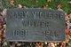 Mary Elizabeth <I>Violette</I> Witwer
