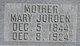 Mary <I>Jordan</I> Evans