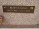 Betty Joyce <I>Dabbs</I> Adams