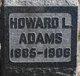 Profile photo:  Howard Lamont Adams